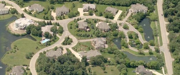 Aerial View of Fallingwater Subdivision