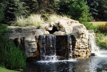Faux Waterfall at Covington Subdivision